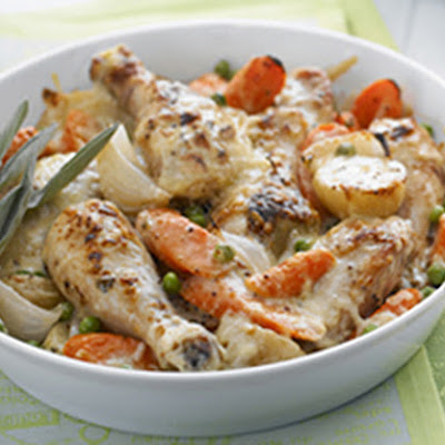 Golden Chicken and Vegetable Gratin