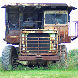 Retired by Jane Spencer - Transportation Other ( heavy equipment, machinery, truck, rusted, retired, abandoned,  )