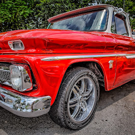 Red Chevy Truck by Ron Meyers - Transportation Automobiles