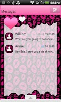 Screenshot of GO SMS THEME/HeartFeltKisses