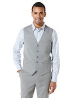 Perry Ellis Subtle Stripe Suit Vest