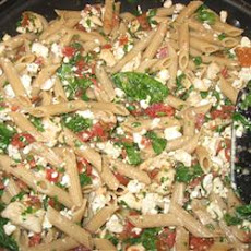 Mostaccioli with Spinach and Feta