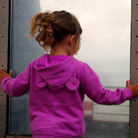 Looking Out by Michelle du Plooy - Babies & Children Children Candids ( window, ferry, boat, toddler, outside )