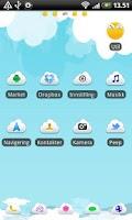 Screenshot of Summer Sky GO Launcher Theme