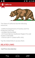 Screenshot of Wildfire - American Red Cross