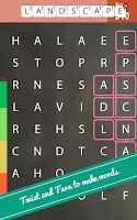 Screenshot of Word search puzzle