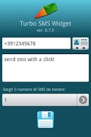 Screenshot of Turbo SMS Widget
