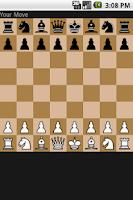 Screenshot of Chess game