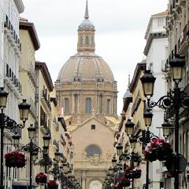 Zaragoza - main street by João Ascenso - City,  Street & Park  Historic Districts ( zaragoza, spain )