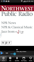 Screenshot of Northwest Public Radio