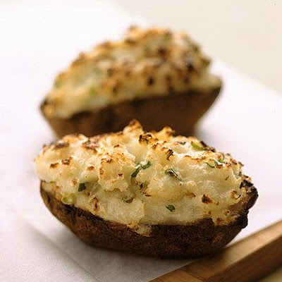 Twice-Baked Potatoes with Green Onions