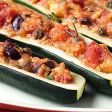 Olive, Tomato, and Millet–Stuffed Zucchini Recipe