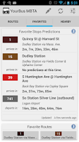 Screenshot of YourBus MBTA