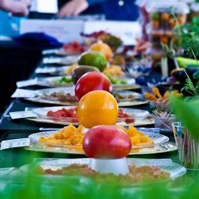 Tasting Tomatoes by Rita Colantonio - Food & Drink Fruits & Vegetables ( red, plates of food, food, food & beverage, yellow, tomatoes, eat & drink, meal )