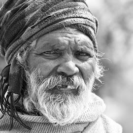 Elder by Rowan St john - People Portraits of Men ( black and white, new delhi, dharmsala, india, people, culture, portrait,  )