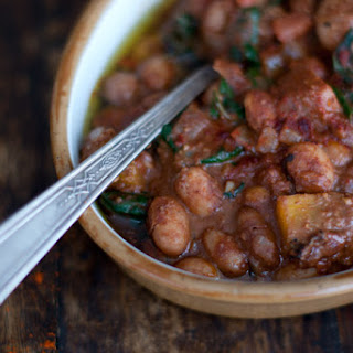 Borlotti Bean Mole with Roast Winter Squash