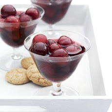 Cherries In Rosé Wine & Vanilla Syrup