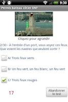 Screenshot of Permis bateau côtier ENF
