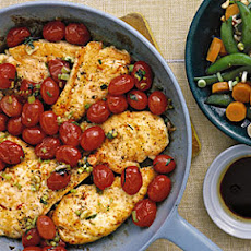 Chicken Cutlets with Tomato Sauté
