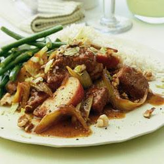 Normandy Pork Casserole With Apples, Celery And Walnuts