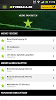 Screenshot of FUSSBALL.DE