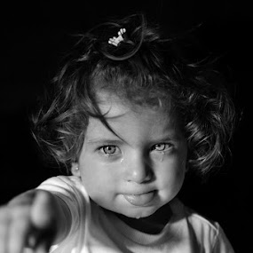 by Christos Psevdiotis - Babies & Children Child Portraits ( child, low key, black & white, baby, cry )