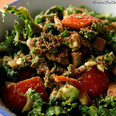 Raw Kale Salad w/ Avocado & Tomato