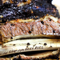 Coffee crusted BBQ beef ribs