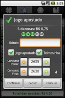 Screenshot of Loterias Mobile Quina