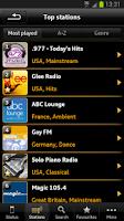Screenshot of Audi Music Stream
