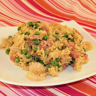 Fried Brown Rice With Ham and Shrimp