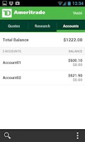 Screenshot of TD Ameritrade Mobile