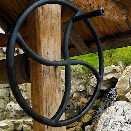 old well by Emina Dedić - Instagram & Mobile Other ( water, water well, old, well wheel pulley, waterfall, well )