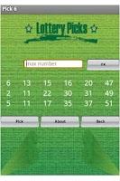 Screenshot of Lottery Picks