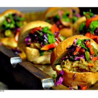 Indian Eggplant Sliders – Indian Street Food