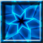 Blue Swirling Star LWP icon