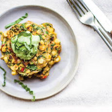 Sweet Corn and Squash Fritters With Avocado Crema From 'Vibrant Food'