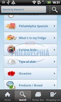 Screenshot of Philadelphia recipes