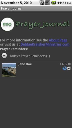 Prayer Calendar Journal