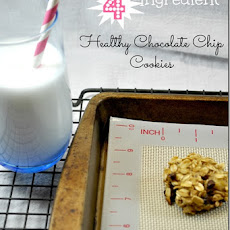 4-Ingredient Healthy Chocolate Chip Cookies