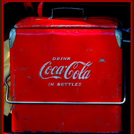 Antique Coca Cola Cooler by Wendy Thorson - Artistic Objects Antiques