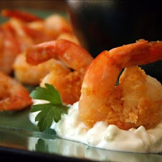10-Minute Buffalo Shrimp With Blue Cheese Dip