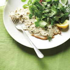 Broiled Mustard-Crusted Flounder