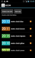 Screenshot of Metro clock uccw skin