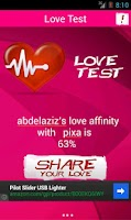 Screenshot of Love Test