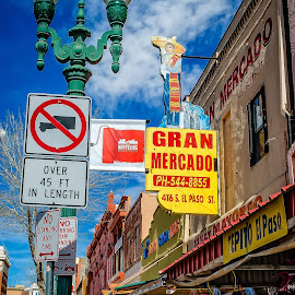Shopping in El Paso by Paulo Peres - City,  Street & Park  Markets & Shops ( storefronts, el paso, texas, shopping, hispanic, sidewalk, city,  )