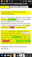 Screenshot of Vade Mecum Juridico Completo
