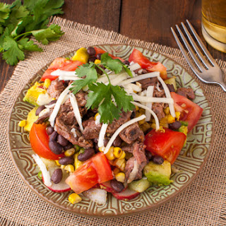 Grilled Mexican Skirt Steak and Roasted Corn Salad