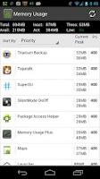 Screenshot of Memory Usage