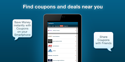 Screenshot of Mobile Coupons
